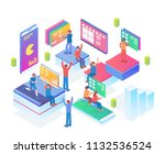 modern isometric smart virtual... | Shutterstock .eps vector #1132536524
