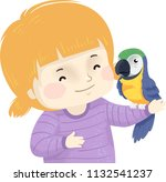 illustration of a kid girl with ... | Shutterstock .eps vector #1132541237