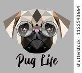 low poly triangular little cute ...   Shutterstock .eps vector #1132543664