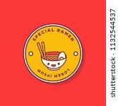ramen bowl badge and sticker... | Shutterstock .eps vector #1132544537