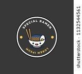 ramen bowl badge and sticker... | Shutterstock .eps vector #1132544561