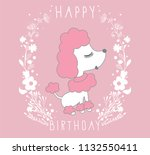cartoon doodle poodles isolated ... | Shutterstock .eps vector #1132550411