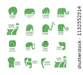 elephant logo collection for... | Shutterstock .eps vector #1132552514