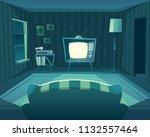vector cartoon living room at... | Shutterstock .eps vector #1132557464