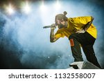 post malone performance at rock ... | Shutterstock . vector #1132558007