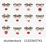 comic emotions. woman with...   Shutterstock .eps vector #1132565741