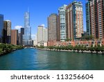 Beautiful Chicago River And...