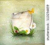 spring frame  old style vector   Shutterstock .eps vector #113256859