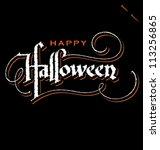 'halloween' hand lettering  ...   Shutterstock .eps vector #113256865