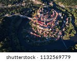 view from above on medieval... | Shutterstock . vector #1132569779