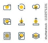 vector illustration of 9 memory ... | Shutterstock .eps vector #1132571231