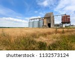 silos for storage of cereals in ... | Shutterstock . vector #1132573124