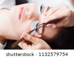 eyelash care treatment... | Shutterstock . vector #1132579754