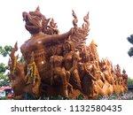 ubon ratchathani candle...   Shutterstock . vector #1132580435