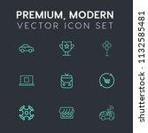 modern  simple vector icon set... | Shutterstock .eps vector #1132585481
