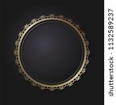 decorative round frame for... | Shutterstock .eps vector #1132589237