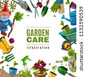 garden maintenance colorful... | Shutterstock .eps vector #1132590539