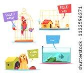 pet shop design concept with... | Shutterstock .eps vector #1132596371