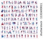 vector illustration in a flat... | Shutterstock .eps vector #1132600811