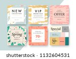 modern promotion square web... | Shutterstock .eps vector #1132604531