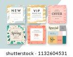 modern promotion square web... | Shutterstock .eps vector #1132604531