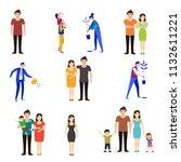 crowd of tiny people walking... | Shutterstock .eps vector #1132611221