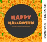 halloween night party greeting... | Shutterstock .eps vector #1132623431