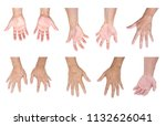 set of man hands isolated on... | Shutterstock . vector #1132626041