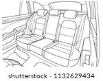 machine inside. interior of the ... | Shutterstock .eps vector #1132629434