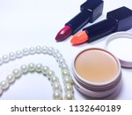 pink and red moisturizer...   Shutterstock . vector #1132640189