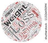 vector conceptual weight loss... | Shutterstock .eps vector #1132645094