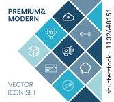 modern  simple vector icon set... | Shutterstock .eps vector #1132648151