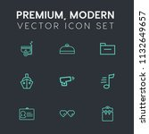 modern  simple vector icon set... | Shutterstock .eps vector #1132649657