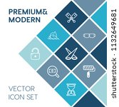 modern  simple vector icon set... | Shutterstock .eps vector #1132649681