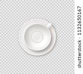 realistic empty tea coffee cup... | Shutterstock . vector #1132650167