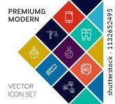 modern  simple vector icon set...   Shutterstock .eps vector #1132652495