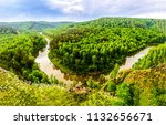 forest river top view panoramic ... | Shutterstock . vector #1132656671