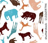 tropical seamless pattern....   Shutterstock .eps vector #1132659794