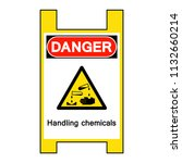 danger handling chemicals... | Shutterstock .eps vector #1132660214