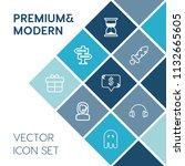 modern  simple vector icon set... | Shutterstock .eps vector #1132665605