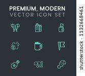 modern  simple vector icon set... | Shutterstock .eps vector #1132668461