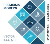 modern  simple vector icon set... | Shutterstock .eps vector #1132668581
