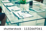 financial charts on the table...   Shutterstock . vector #1132669361