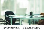 desk manager of the company...   Shutterstock . vector #1132669397