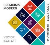 modern  simple vector icon set... | Shutterstock .eps vector #1132672379