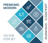 modern  simple vector icon set... | Shutterstock .eps vector #1132674107