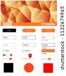 light orange vector ui kit in...