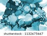 hand painted ink texture.... | Shutterstock . vector #1132675667