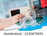 experiment with hydrogen power... | Shutterstock . vector #1132675691