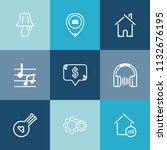 modern  simple vector icon set... | Shutterstock .eps vector #1132676195
